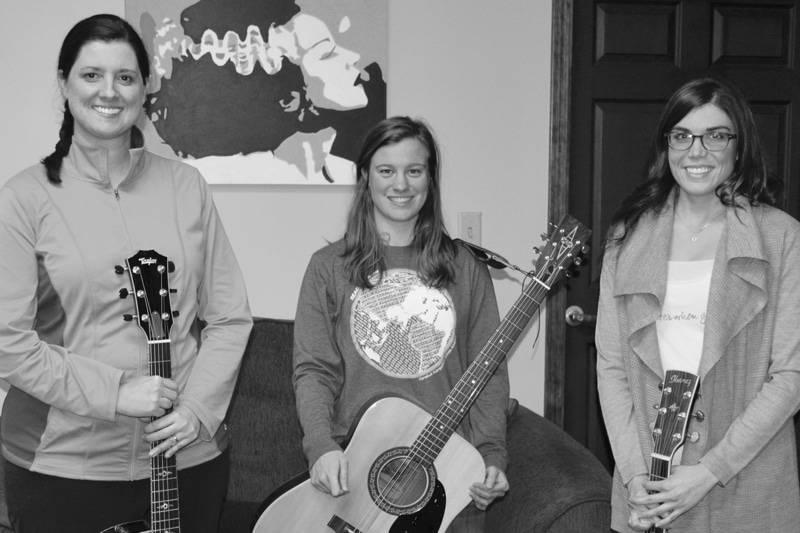 Adult guitar students