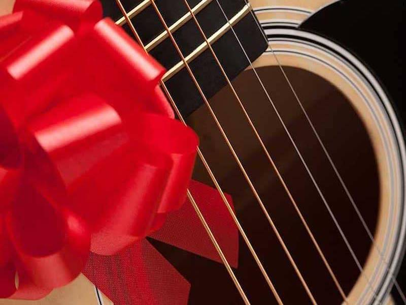 Guitar lessons gift wrapped small