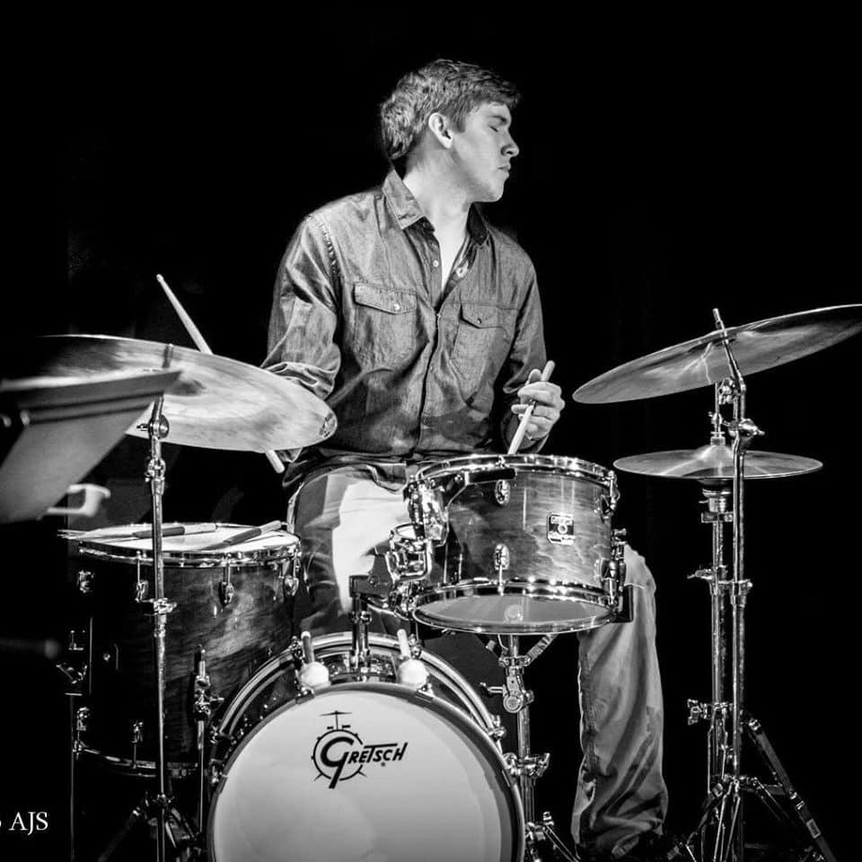 Josh Blythe on drums