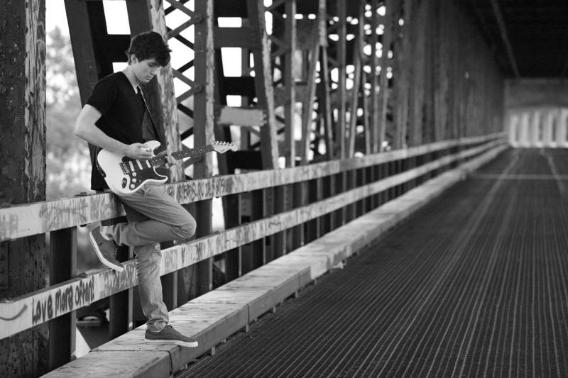 Logan on bridge