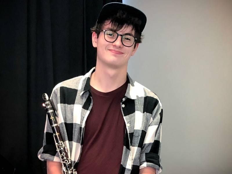 clarinet student Jack Starcke
