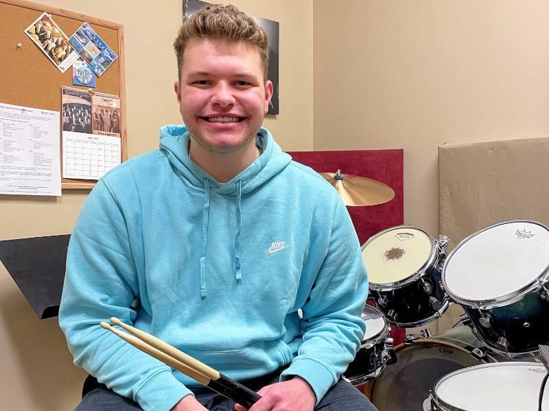 drum student Jordan Funk