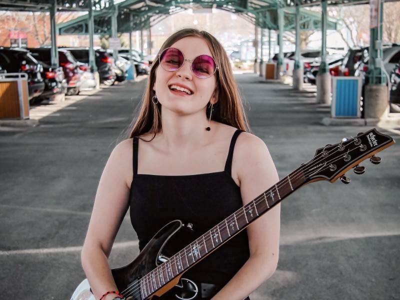 Guitar student Jordan Mefferd