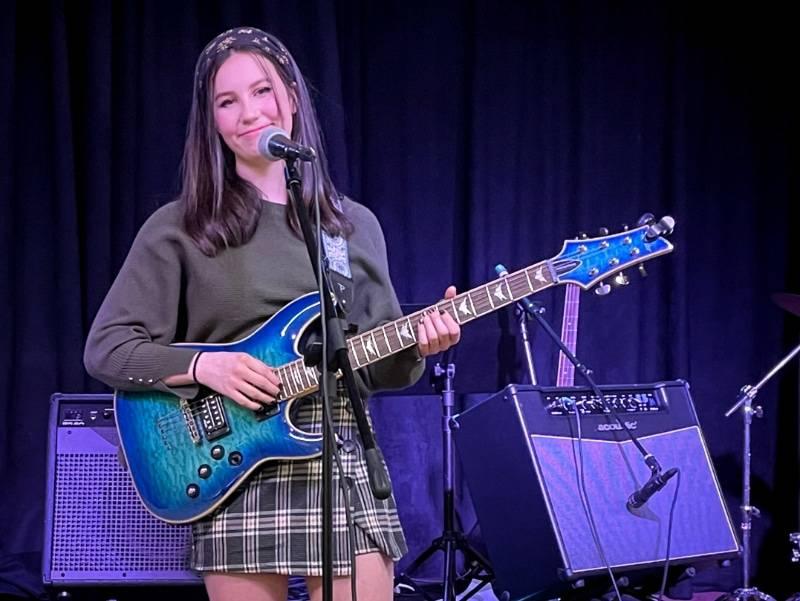 Guitar & voice student Natalie Detmer
