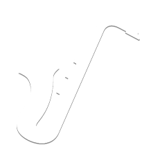 white saxophone icon